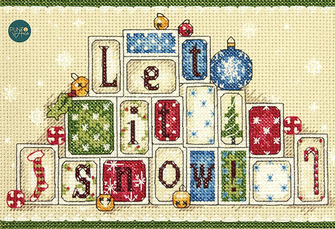 Let It Snow - 70-08920 Dimensions - Kit de punt de cruz