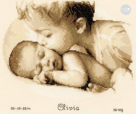 Natalicio - Amor fraterno - Vervaco - Kit de punto de cruz