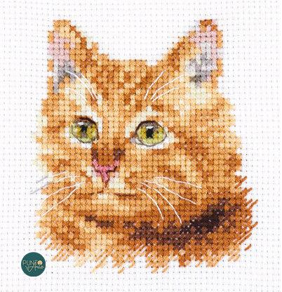 0-207 Gato anaranjado - Alisa - Kit de punto de cruz