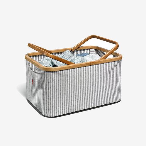 Caja de lona y bambú - Prym - a rayas