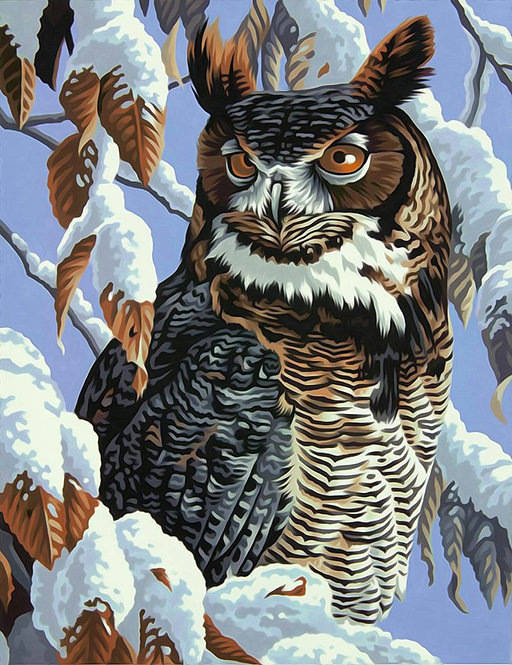Winter Watch - 73-91476 Dimensions - Kit de Pintura por numero