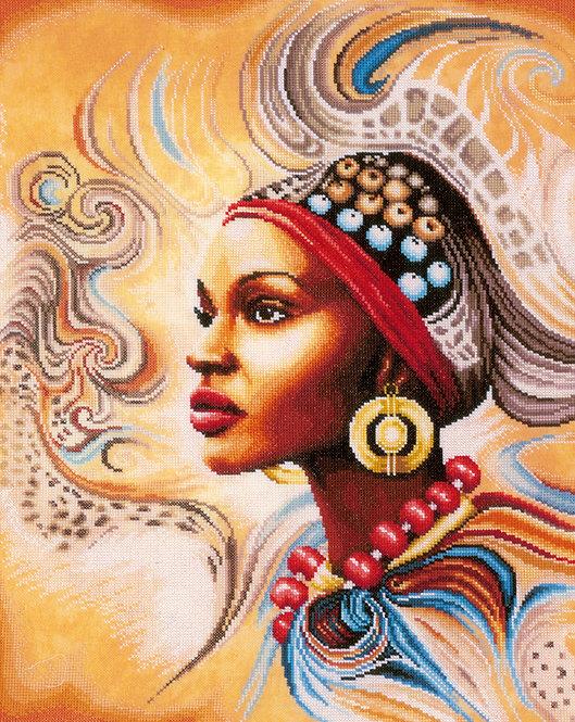 Belleza Africana - Lanarte - Kit de punto de cruz