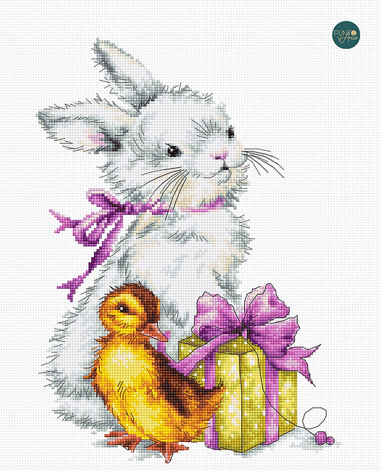 B1127 Easter greeting card - Luca-S - Kit de Punto de Cruz