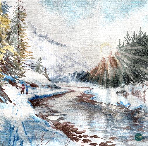 1387 Frescura helada - OVEN - Kit de punto de cruz