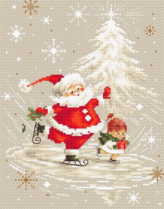 B1118 Santa Claus - Luca-S - Kit de Punto de Cruz