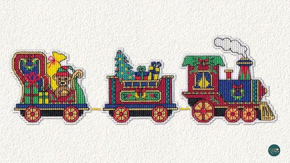 1131 Trencito de Navidad - OVEN - Kit de punto de cruz