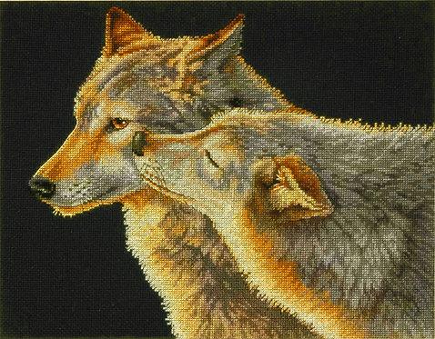 Beso de lobo - 70-35283 Dimensions - Kit de punto de cruz