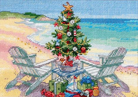 Navidad en la playa - 70-08832 Dimensions - Kit de punto de cruz