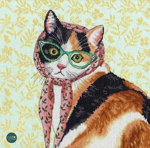 Mama Cat - 70-35395 Dimensions - Kit de punt de cruz