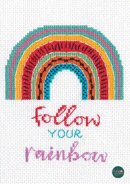 Follow Your Rainbow - 70-65213 Dimensions - Kit de punt de cruz