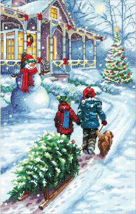 Tradiciones Navideñas - 70-08960 Dimensions - Kit de punto de cruz