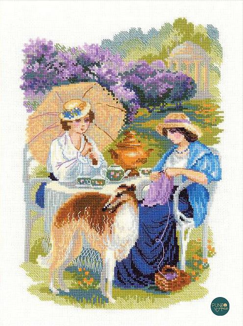 1141 La finca rusa. Las flores lilas - Riolis - Kit de punto de cruz