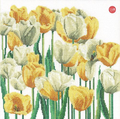 3065A Tulipanes - Thea Gouverneur - Kit de Punto de Cruz