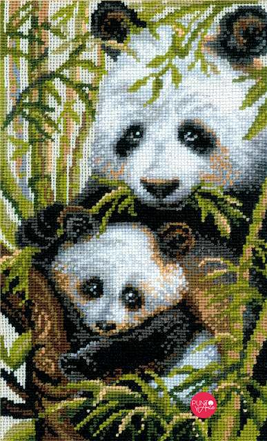 1159 Panda - Riolis - Kit de punto de cruz