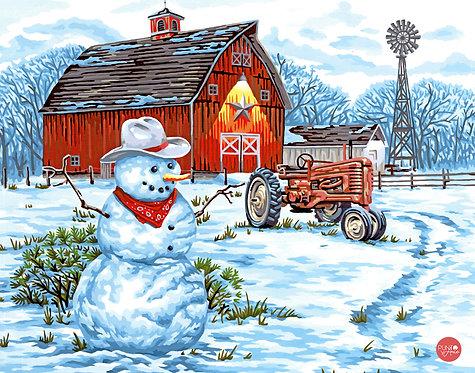 COUNTRY SNOWMAN - 73-91434 Dimensions - Kit de Pintura por numero