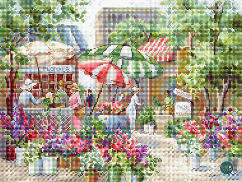 LETI 978 Mercado de flores - LETISTITCH - Kit de Punto de Cruz