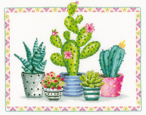 Cactus - Vervaco - Kit de punto de cruz