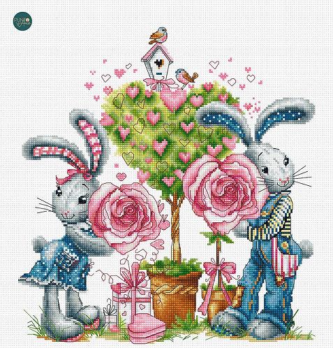 B1124 Be My Valentine - Luca-S - Kit de Punto de Cruz