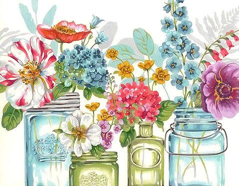 Flores arcoiris - 73-91730 Dimensions - Kit de Pintura por numero