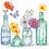 Thumbnail: Tarros de flores silvestres - 70-35397 Dimensions - Kit de punt de cruz