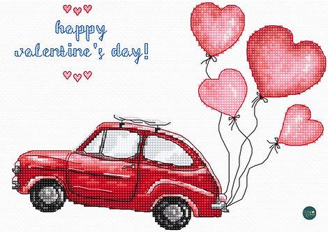 LETI 983 Feliz día de San Valentín - LETISTITCH - Kit de Punto de Cruz