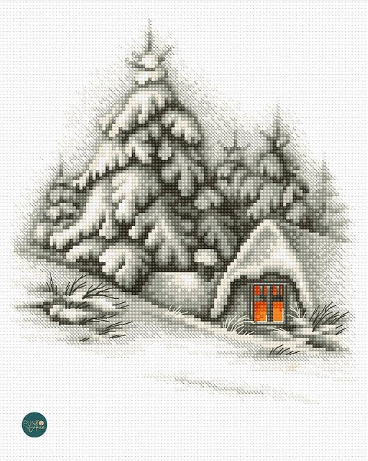 B2279 Paisaje de invierno - Luca-S - Kit de Punto de Cruz