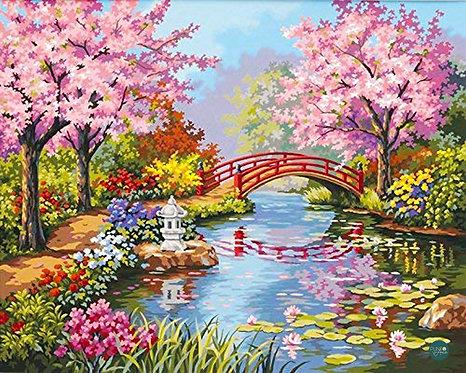 Jardín japonés - 91415 Dimensions - Kit de Pintura por numer