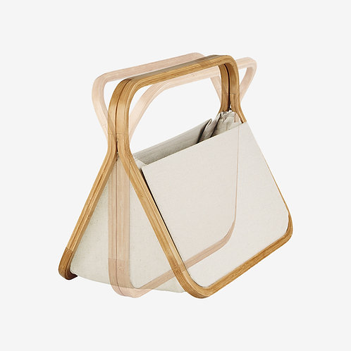 Cesta de lona y bambú - Fold & Store - Prym