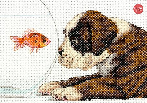 Dog Bowl - 70-65169 Dimensions - Kit de punt de cruz
