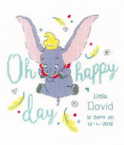 Natalicio - Dumbo, oh feliz día - Vervaco - Kit de punto de cruz