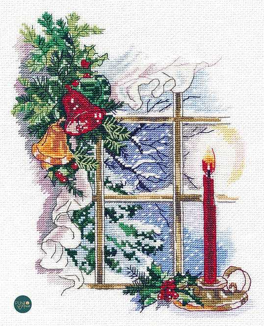 1358 Luz de Navidad - OVEN - Kit de punto de cruz