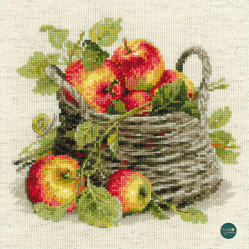 1450 Manzanas maduras - Riolis - Kit de punto de cruz