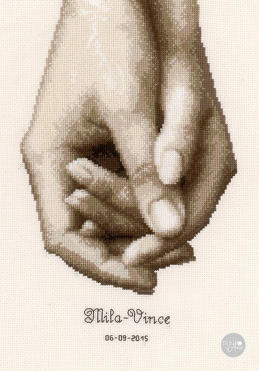 Hand in hand - Vervaco - Kit de punto de cruz