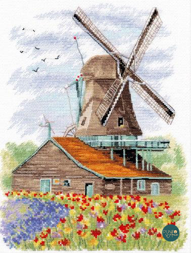 1105 Molino de viento, Holanda - OVEN - Kit de punto de cruz