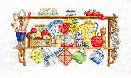 PCE757 El estante de la cocina - Anchor - Kit de punto de cruz