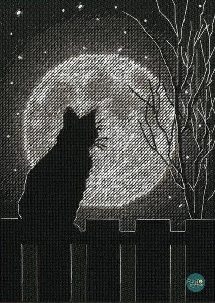 Luna negra - 70-65212 Dimensions - Kit de punt de cruz