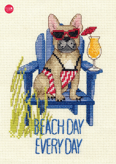 Día de playa - Perro - 70-65195 Dimensions - Kit de punt de cruz