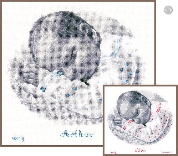 Bebé dormido - Vervaco - Kit de punto de cruz