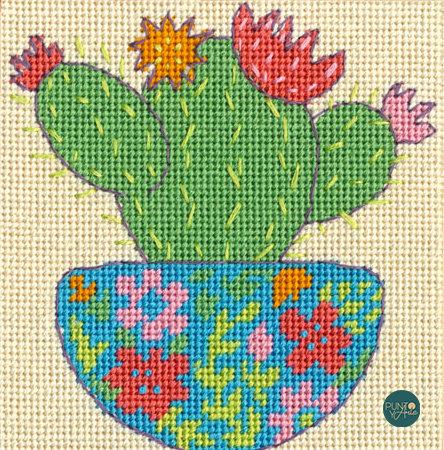 Happy Cactus - 71-07248 Dimensions - Kit de petit point