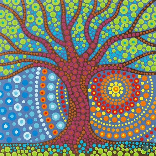 Dot Painting Mystic tree - 73-91780 Dimensions - Kit de Pintura por nu