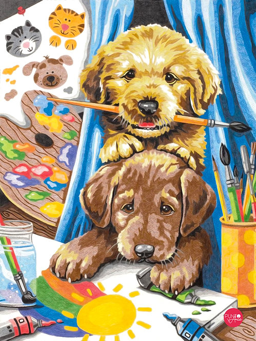 Cachorros - 73-91688 Dimensions - Kit de Pintura por numero