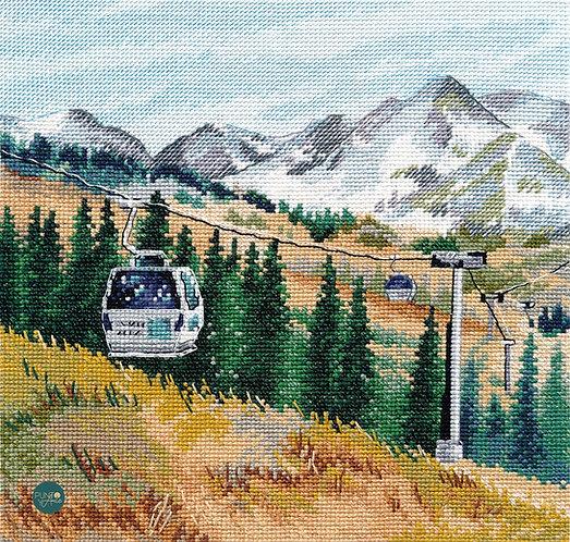 1284 Mount Chimbulak - OVEN - Cross stitch kit