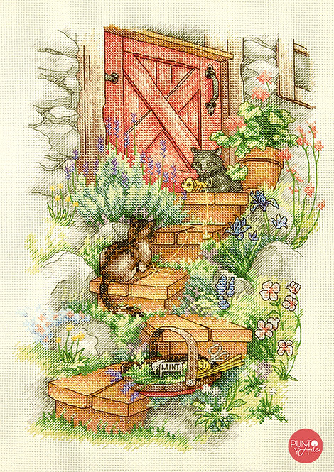 Pasos del jardín - 70-35362 Dimensions - Kit de punto de cruz