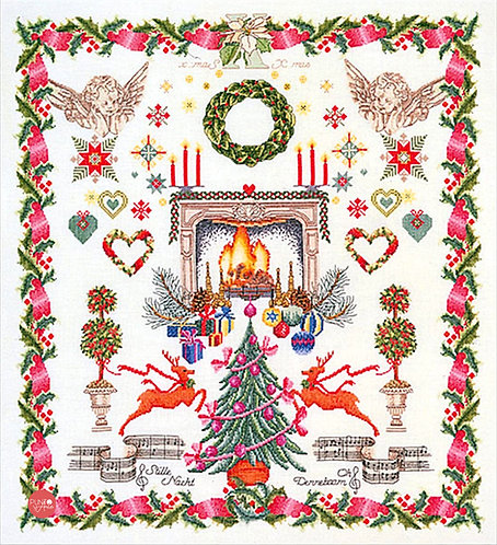 2077A Diseño de Navidad - Thea Gouverneur - Kit de Punto de Cruz