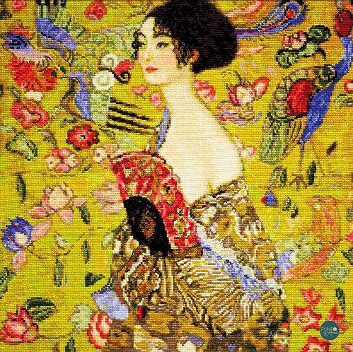 1226 La Dama Del Abanico (G. Klimt) - Riolis - Kit de punto de cruz
