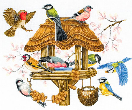 APC942 Bird Table - Anchor - Kit de punto de cruz
