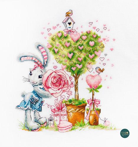 B1125 Be My Valentine - Luca-S - Kit de Punto de Cruz