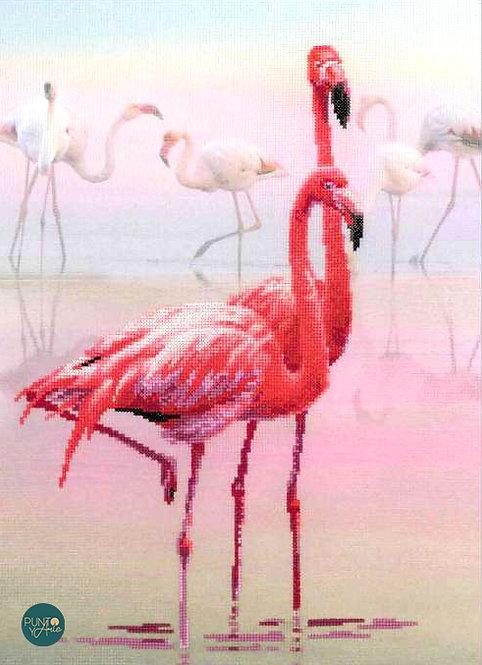 0012 PT Flamingo - Riolis - Kit de punto de cruz