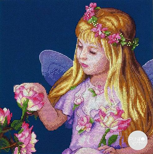 El hada de rosas - D70-35297 Dimensions - Kit de punto de cruz
