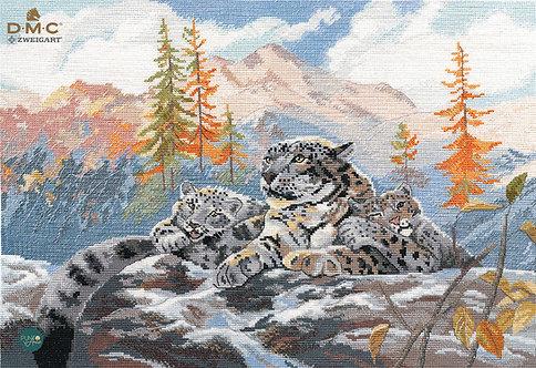 1342 Leopardos de las nieves - OVEN - Kit de punto de cruz